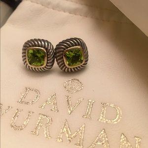 David Yurman Peridot Albion Earrings